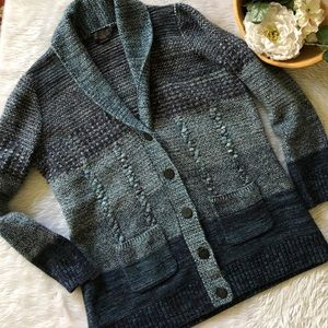 NWOT Pendleton Blue Ombré Knit Cardigan Jacket